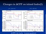 changes in cff on inland faults 1