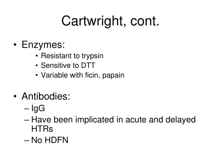 Cartwright, cont.