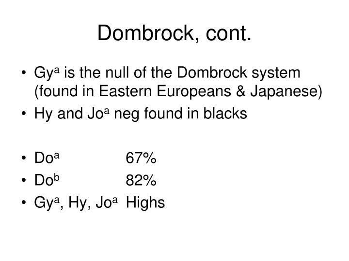 Dombrock, cont.
