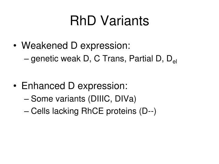RhD Variants