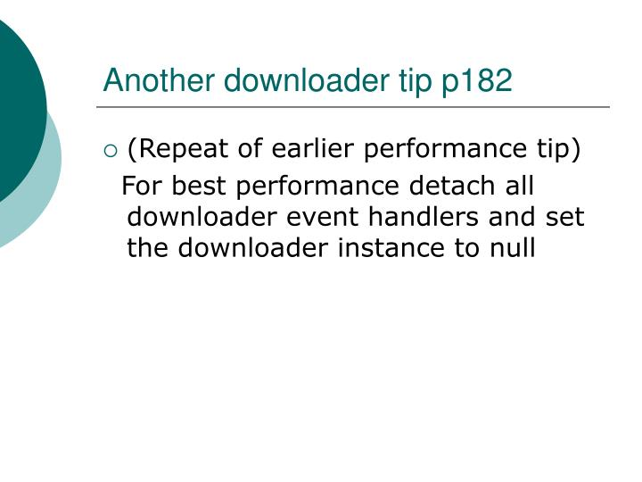 Another downloader tip p182
