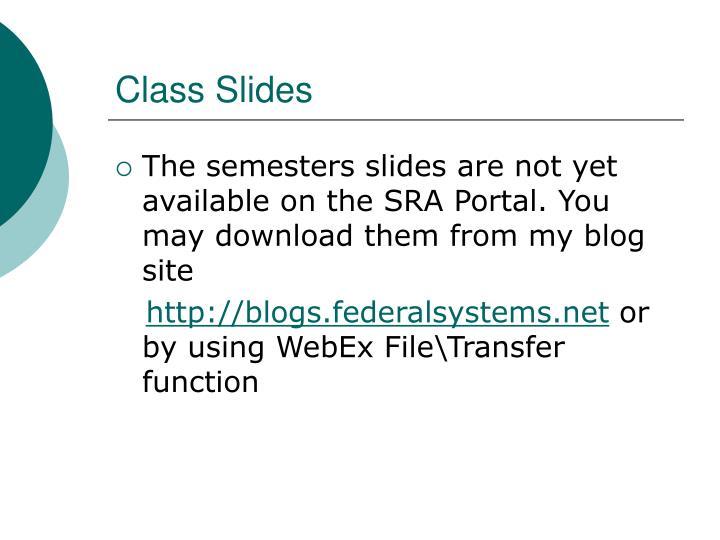 Class Slides