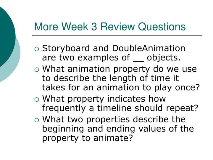 More Week 3 Review Questions