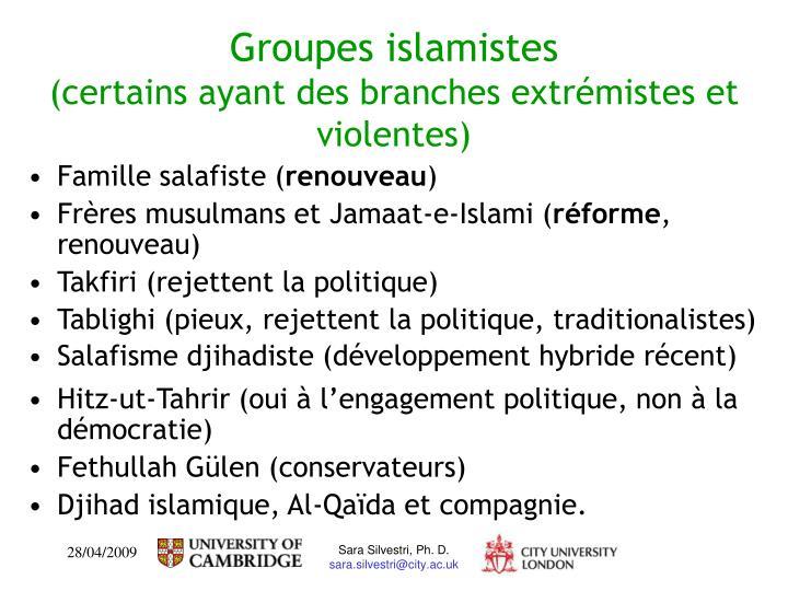 Groupes islamistes