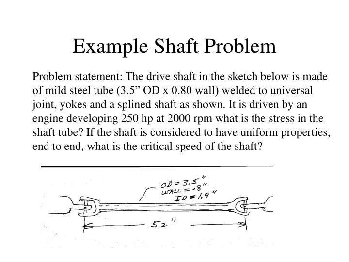 Example Shaft Problem