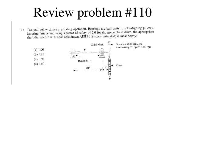 Review problem #110