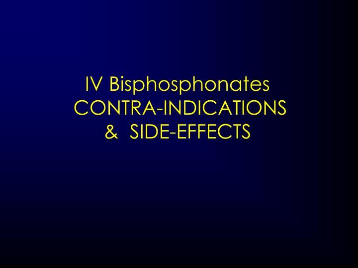 IV Bisphosphonates