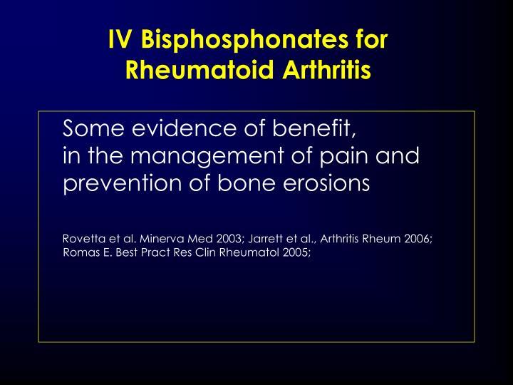 IV Bisphosphonates for