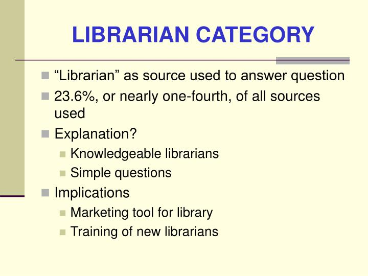 LIBRARIAN CATEGORY