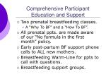 comprehensive participant education and support