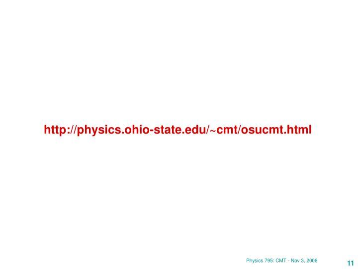 http://physics.ohio-state.edu/~cmt/osucmt.html
