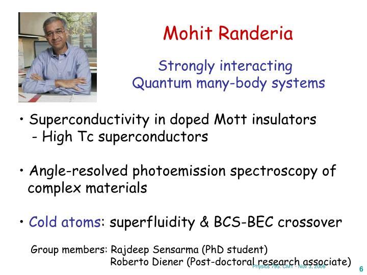 Mohit Randeria