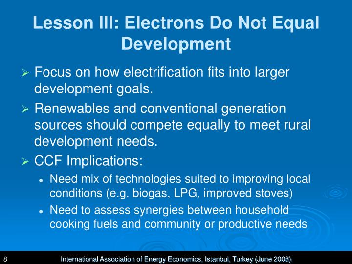 Lesson III: Electrons Do Not Equal Development