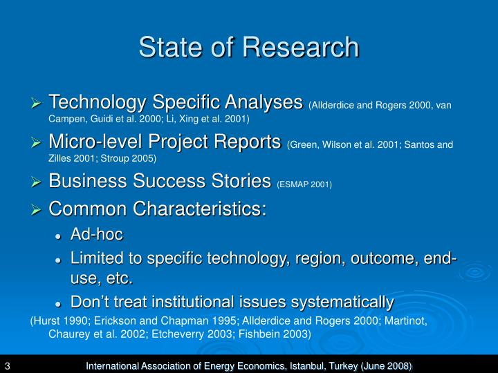 State of Research