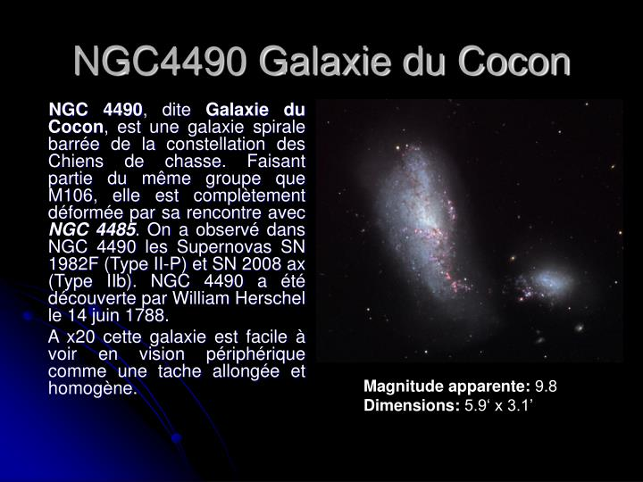 NGC4490 Galaxie du Cocon