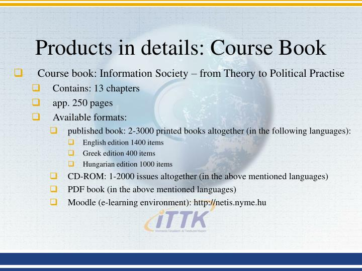 Products in details: Course Book