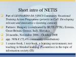 short intro of netis