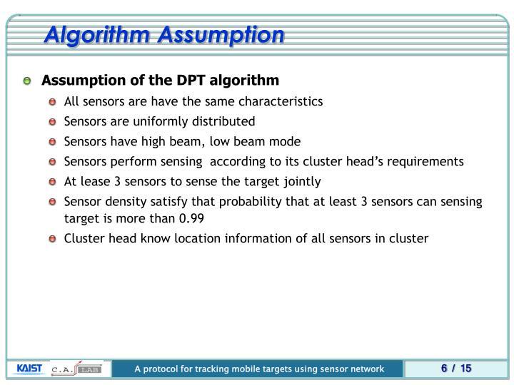 Algorithm Assumption