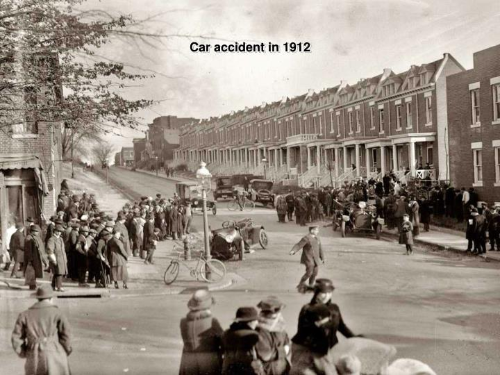Car accident in 1912