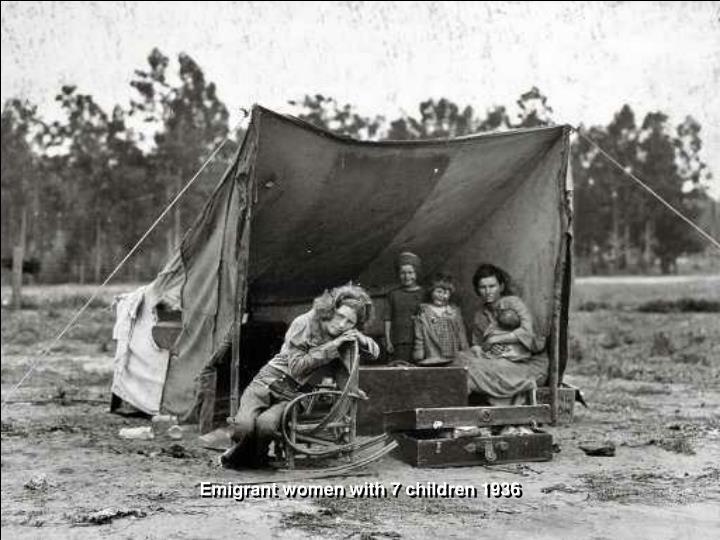 Emigrant women with 7 children 1936