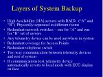 layers of system backup
