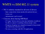 wmts vs ism 802 11 system1