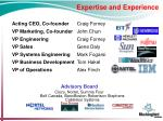 expertise and experience