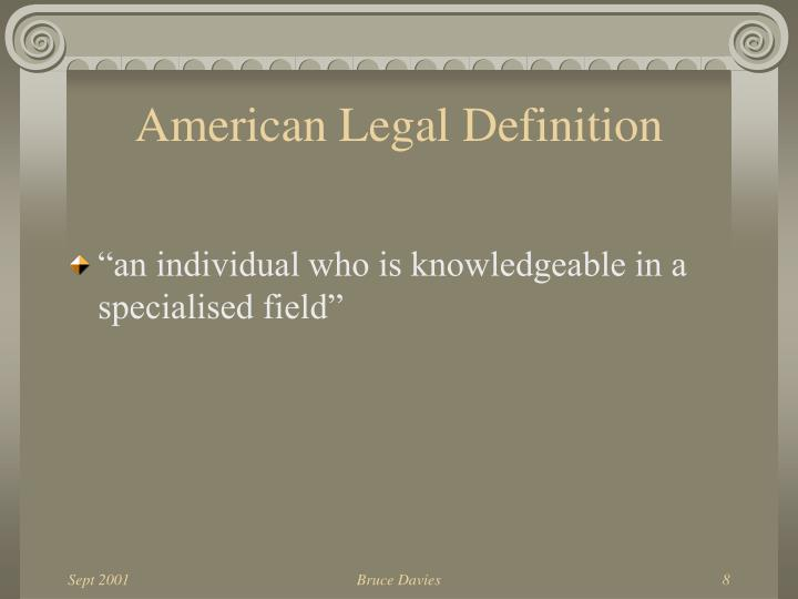 American Legal Definition