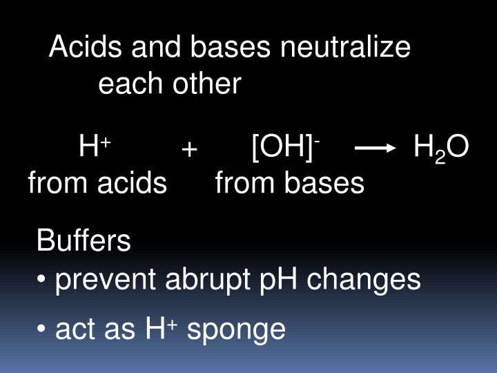 Acids and bases neutralize
