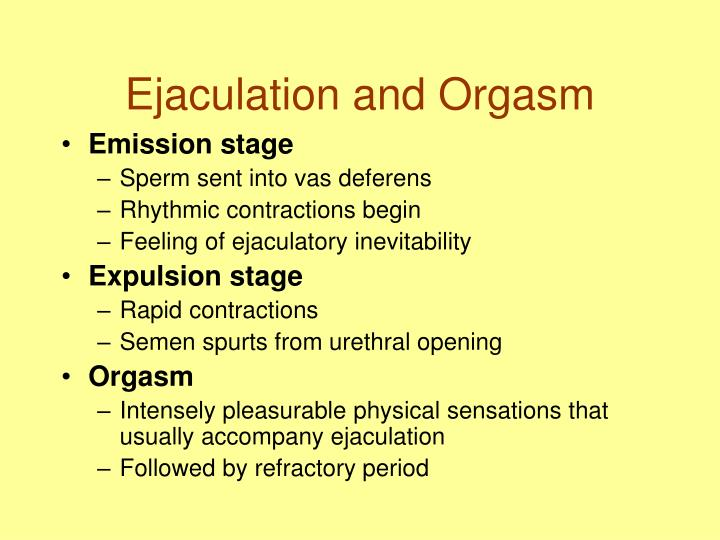 Ejaculation and Orgasm