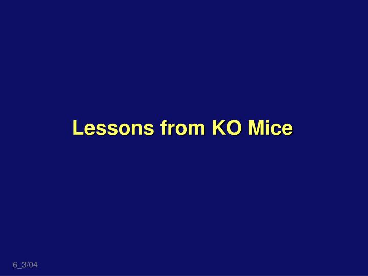 Lessons from KO Mice