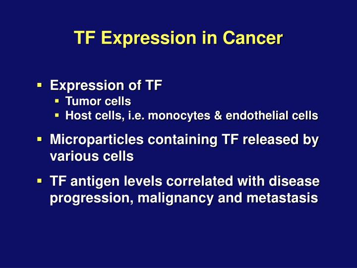 TF Expression in Cancer
