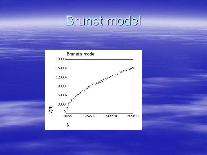 Brunet model