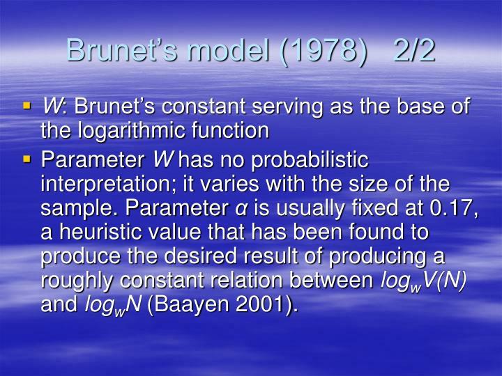 Brunet's model (1978)   2/2