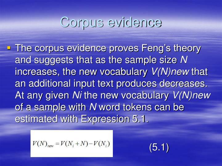 Corpus evidence