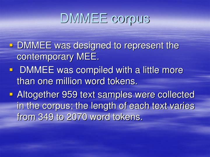 DMMEE corpus