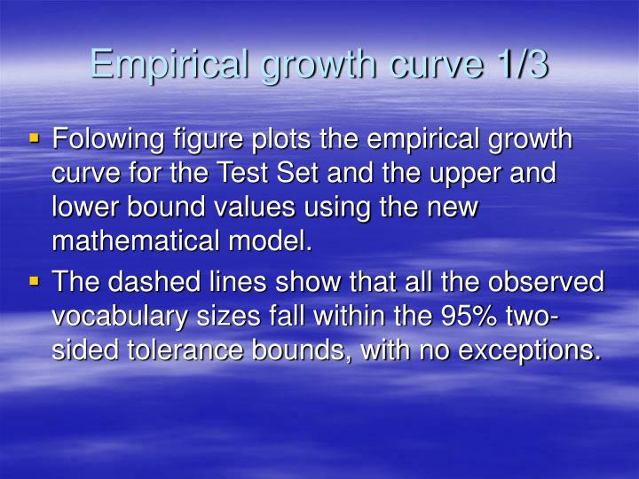 Empirical growth curve 1/3