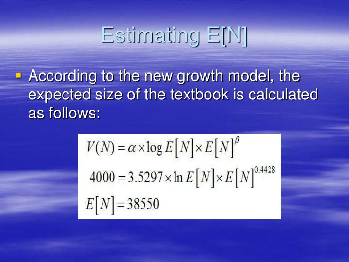 Estimating E[N]