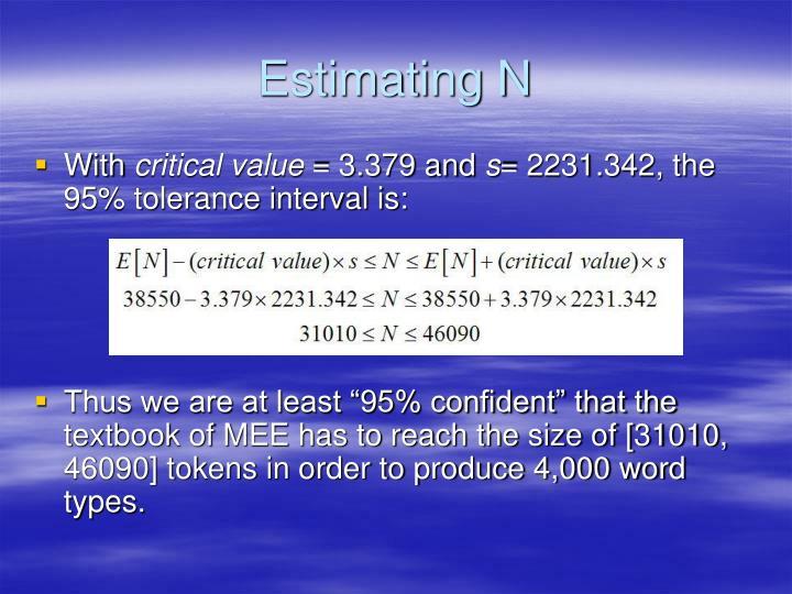 Estimating N