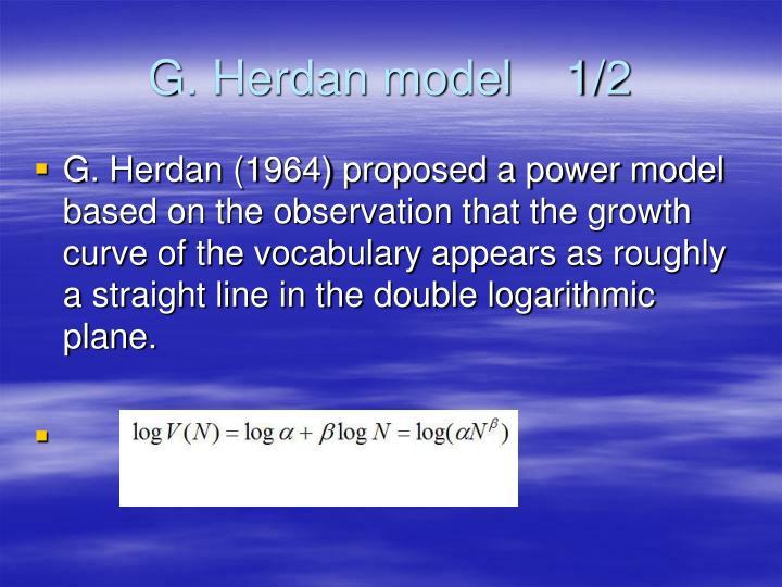 G. Herdan model    1/2