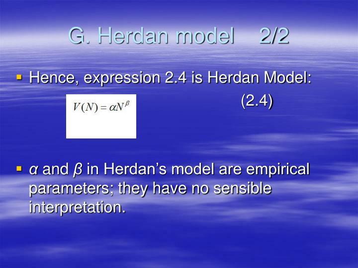 G. Herdan model    2/2