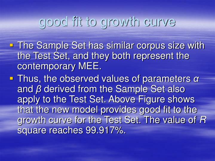 good fit to growth curve