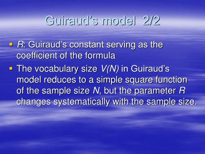 Guiraud's model  2/2
