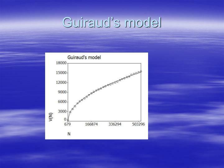 Guiraud's model