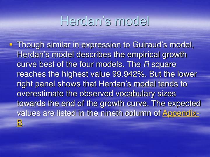 Herdan's model