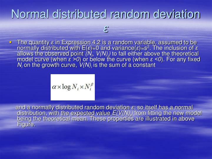 Normal distributed random deviation