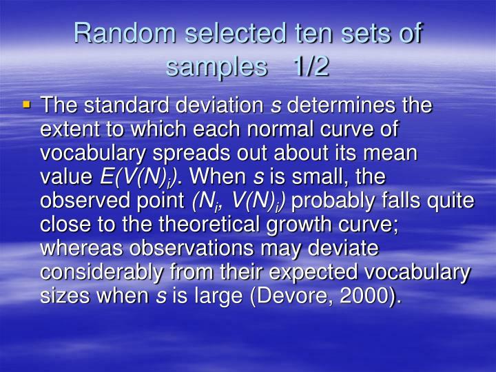 Random selected ten sets of samples   1/2