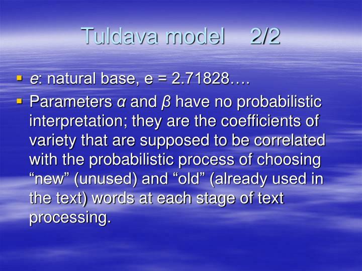 Tuldava model    2/2