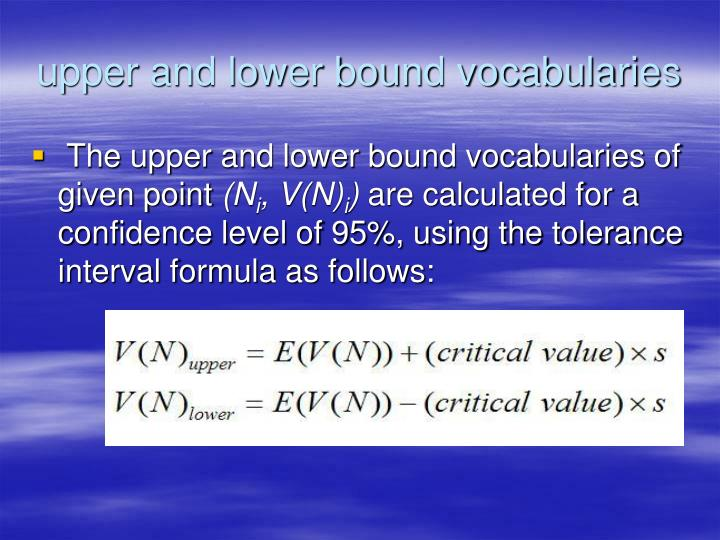 upper and lower bound vocabularies