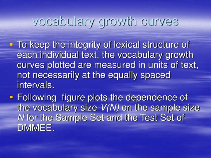 vocabulary growth curves